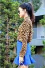 Q2han-skirt-leopard-blouse-dresslink-blouse
