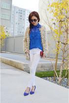 wool cardigan 2amstyles cardigan - blue heels H&M heels