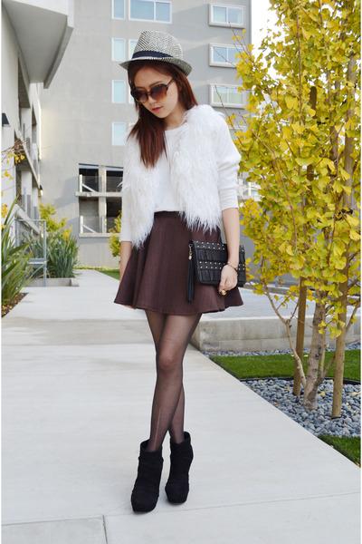 skater skirt Q2HAN skirt - black clutch Poppily bag