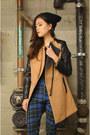 Sheinside-coat-plaid-pants-q2han-pants