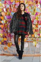 faux fur coat Sheinside coat - fuax fur boots Shoespie boots