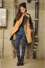Sheinside-coat-plaid-pants-q2han-pants