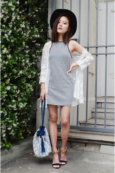 Ich22 dress - bucket bag Q2HAN bag - spike heels shoplately heels