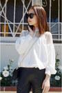 Lace-blouse-sheinside-shirt-bag-louis-quatorze-bag-jemulet-bracelet
