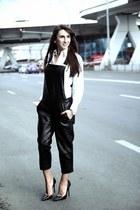 white S Oliver shirt - black Zara heels - black Zara romper