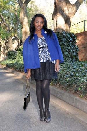 blue vintage cape