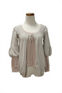 Heather Gray Tie Front QiCashmere Cardigans