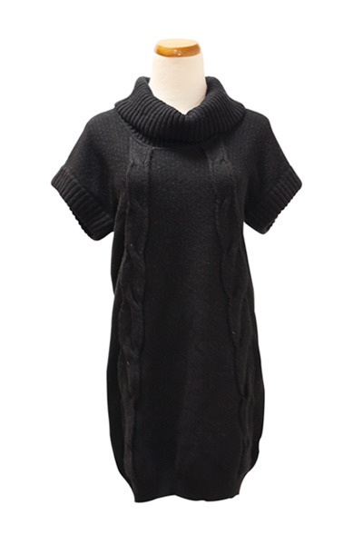 black cashmere dress