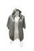 charcoal gray zipper QiCashmere hoodie