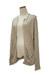 camel open Qi cashmere cardigan