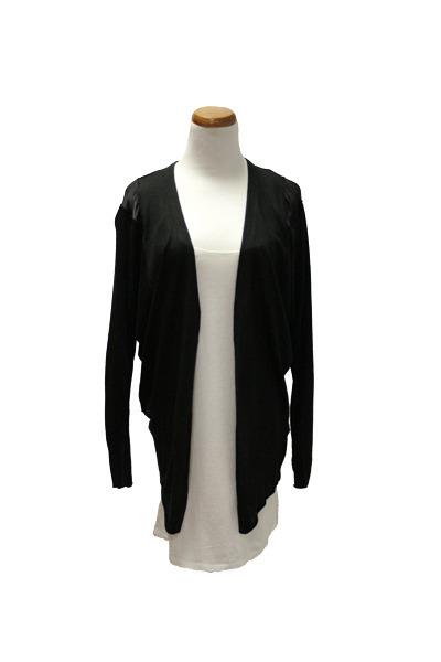 black QiCashmere cardigan