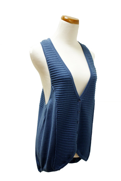 blue Qi cashmere vest