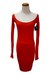ruby red Qi cashmere dress