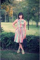 green 1950s vintage dress - 1960s Vintage purse