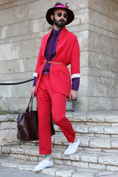 Zara blazer - second hand shirt - Zara tie - H&M pants - white asos flats