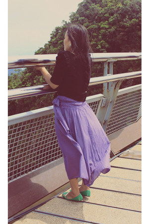 vinci loafers - cotton on blouse - skirt