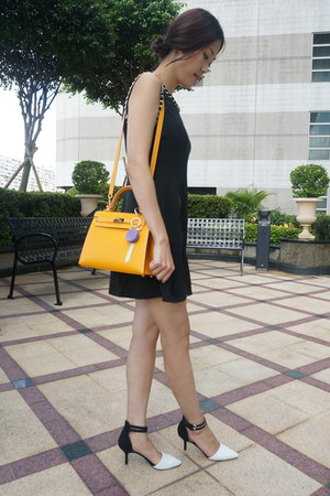 Daily Dolly dress - kelly bag Hermes bag - ankle strap Zara pumps
