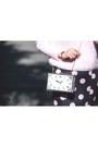 Light-pink-mohair-sweater-white-clock-purse-choies-bag