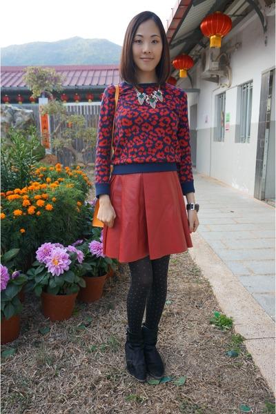 maroon 33 Field Trip skirt - black Alexander Wang boots