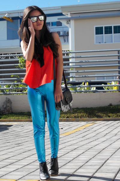 metallic aupie leggings
