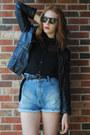 Black-faux-leather-gift-jacket-brick-red-platform-jeffrey-campbell-boots