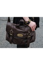 Brown-faux-fur-guess-coat-dark-brown-satchel-nyc-bag