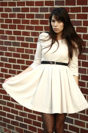 polka dot Target tights - white H&M dress - bows Target heels