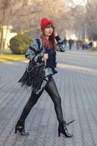 chicnova hat - Jolly Chic boots - chicnova sweater - chicnova bag