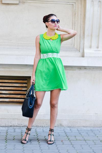romwe dress - H&M sandals