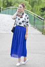 Romwe-necklace-meli-melo-bracelet-zara-skirt