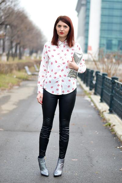 Ahai Shopping shirt - H&M boots - Ahai Shopping leggings