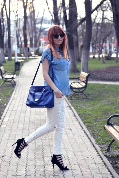 Bershka shirt - newt fashion bag - linzi sandals