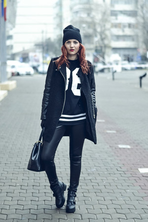 linzi boots - Romwecom coat - H&M hat - Romwecom blouse