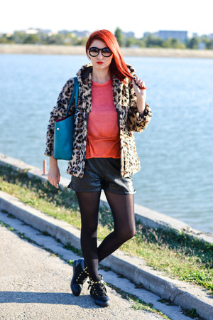 Stylish Plus jacket - romwe shorts - Zero UV sunglasses - Stylish Plus sneakers