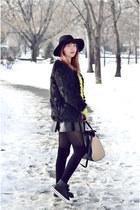 romwe hat - Romwecom coat - PERSUNMALL bag - Romwecom skirt