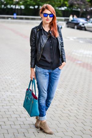 Dolce Vita boots - Fiigirl jacket - zeroUV sunglasses