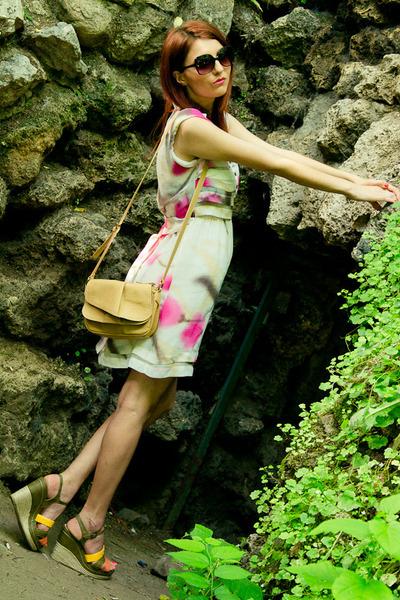 fancy couture ro dress - sarenzaeu bag - sarenzaeu wedges