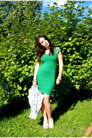 turquoise blue Vtg dress