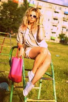 Zara blouse - new look bag - DIY vest