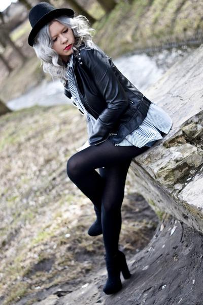black vintage hat - black NN jacket