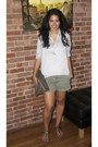 Taupe-leather-american-apparel-bag-green-khaki-old-navy-shorts-silky-top-t