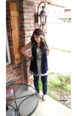 Forever 21 cardigan - Forever 21 dress - JC Penny jeans - Target shoes - Forever