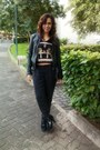 Black-dkny-boots-black-leather-stradivarius-jacket