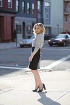 black pencil skirt Anthropologie skirt