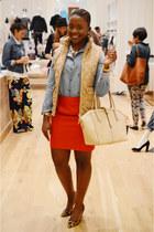 JCrew skirt - JCrew shoes - JCrew shirt - JCrew bag - JCrew vest