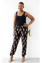 Cole Haan bag - Forever 21 pants - Steve Madden wedges - Guess top