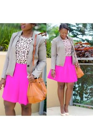 hot pink J Crew skirt