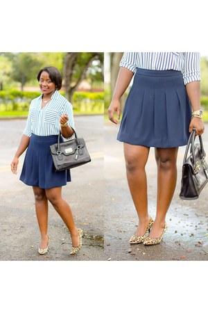 blue J Crew skirt