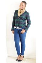 Gap blazer - Express jeans - H&M shirt - Zara heels