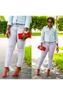 Red-shoes-silver-jeans-light-blue-shirt-red-j-crew-bag